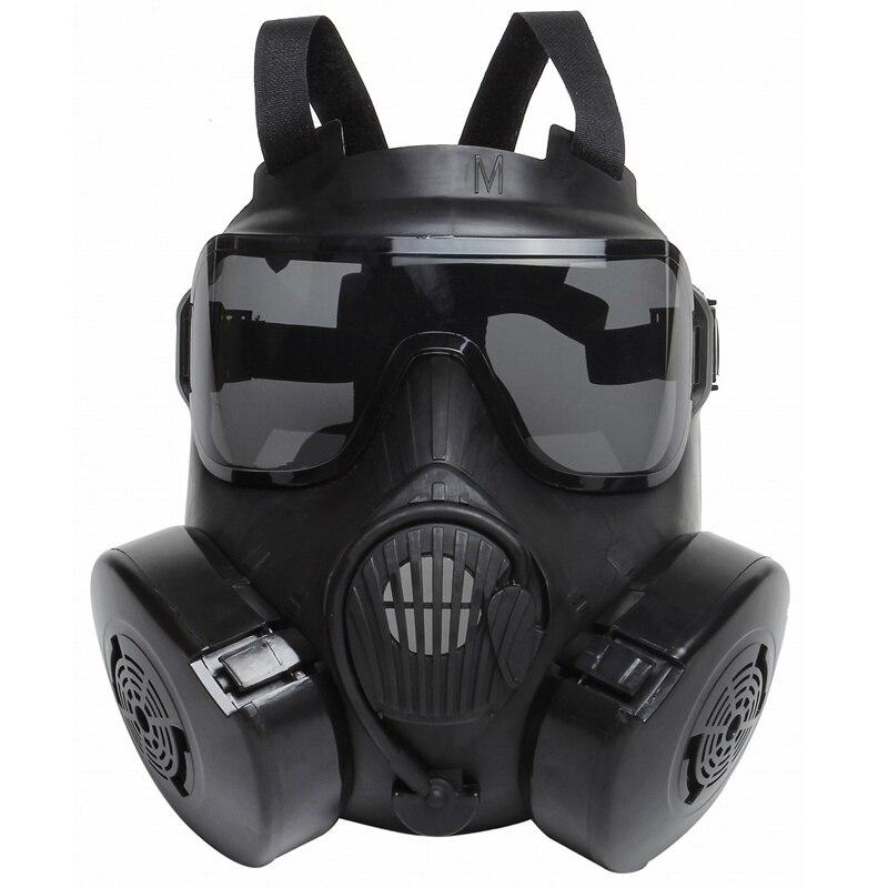 DC15 tactique Airsoft Paintball crâne protecteur visage complet M50 masque à gaz avec ventilateur noir militaire CS Wargame Cosplay