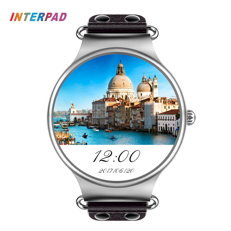 Interpad Android iOS Smart Watch KW98 With WIFI GPS Phone Watch Clock Men Women High Tech Smartwatch for Xiaomi A1 iPhone 8
