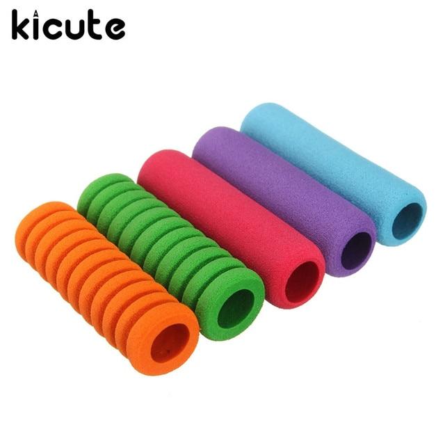 Kicute 5pcs 5 Colors Comfort Soft Foam Pen Pencil Grips Control Pupil Handwriting Aid Kids
