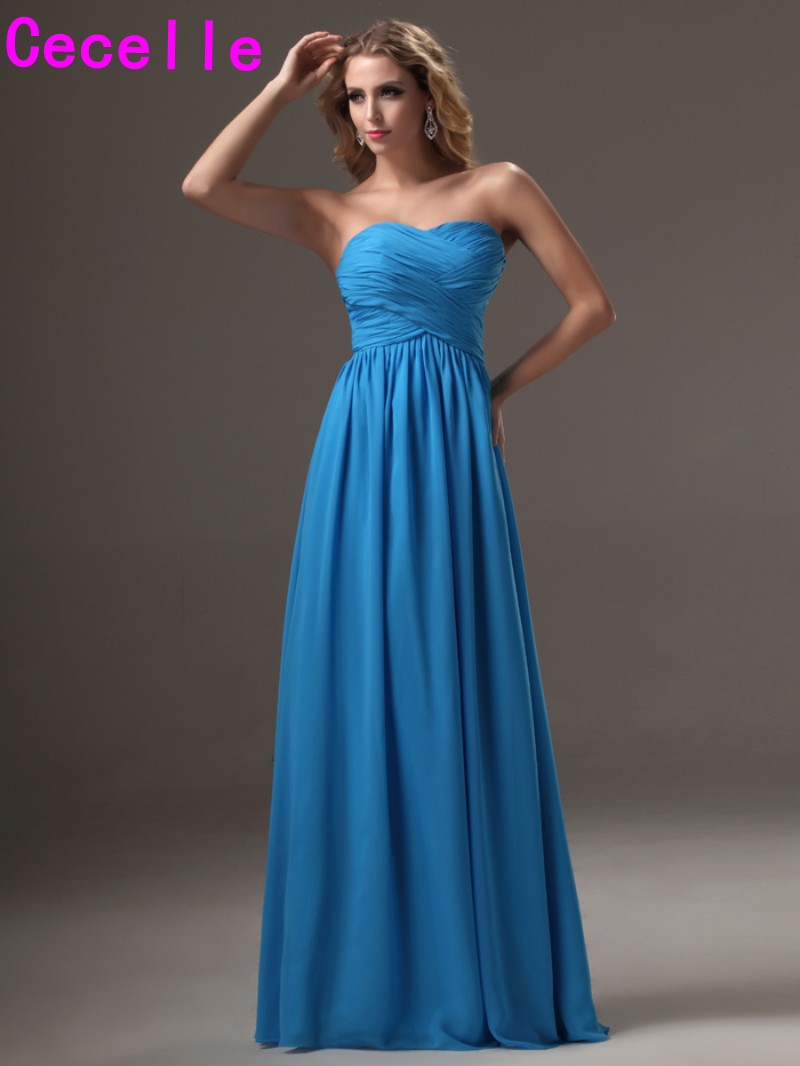 Online buy wholesale simple blue bridesmaid dresses from china 2017 simple blue long bridesmaid dresses gowns for women sweetheart ruched chiffon open back women wed ombrellifo Choice Image