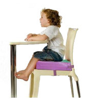 Adjustable and Detachable High Density Sponge Leather Baby Dining Chair Highchair Booster Seat Cushion