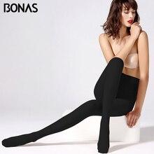 BONAS Velvet Winter Elastic Leggings mujer Sexy Women Autumn Warm Plus Size Leggins Female Thin  Legins Fitness Feminina