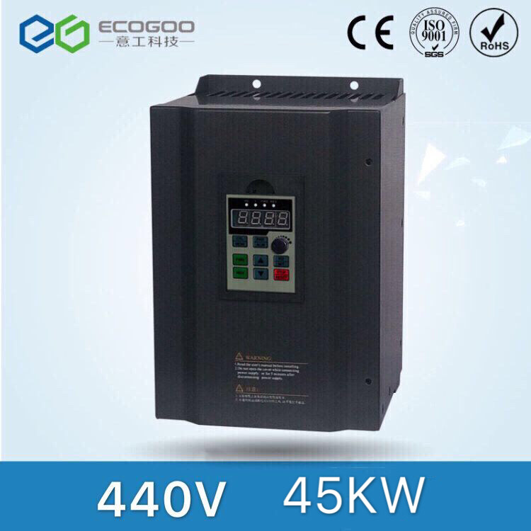 High performance 3 phase 440V 45KW vector frequency inverter/ac motor drive