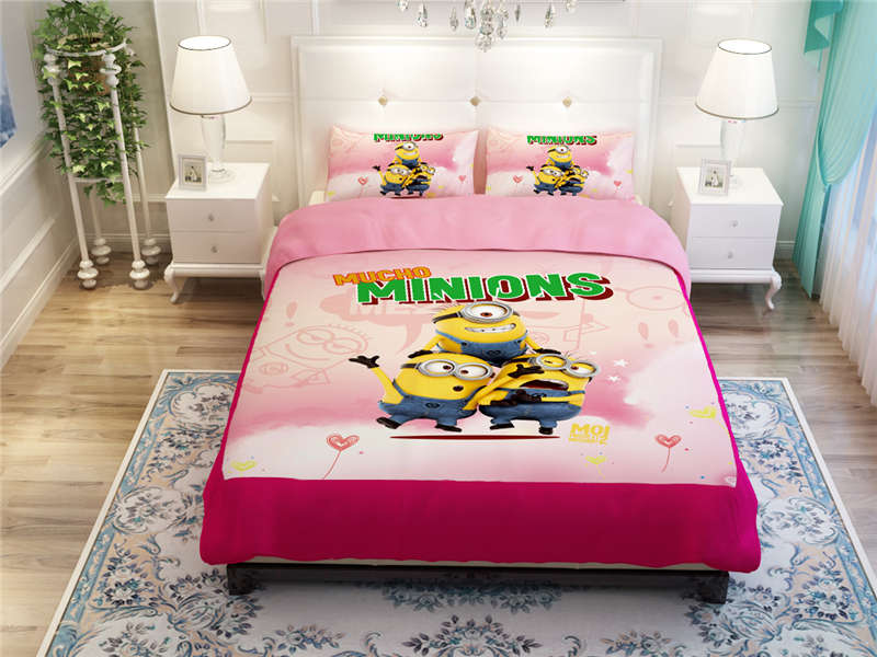 minions paint character beding bed duvet quilt covers and comforters set kids children twin full queen