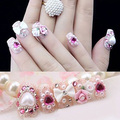 200pcs Mixed Size Pearl Gems Glitter Manicure DIY Decoration Nail Art Polish Acrylic Manicure Decor Tips (Beige)