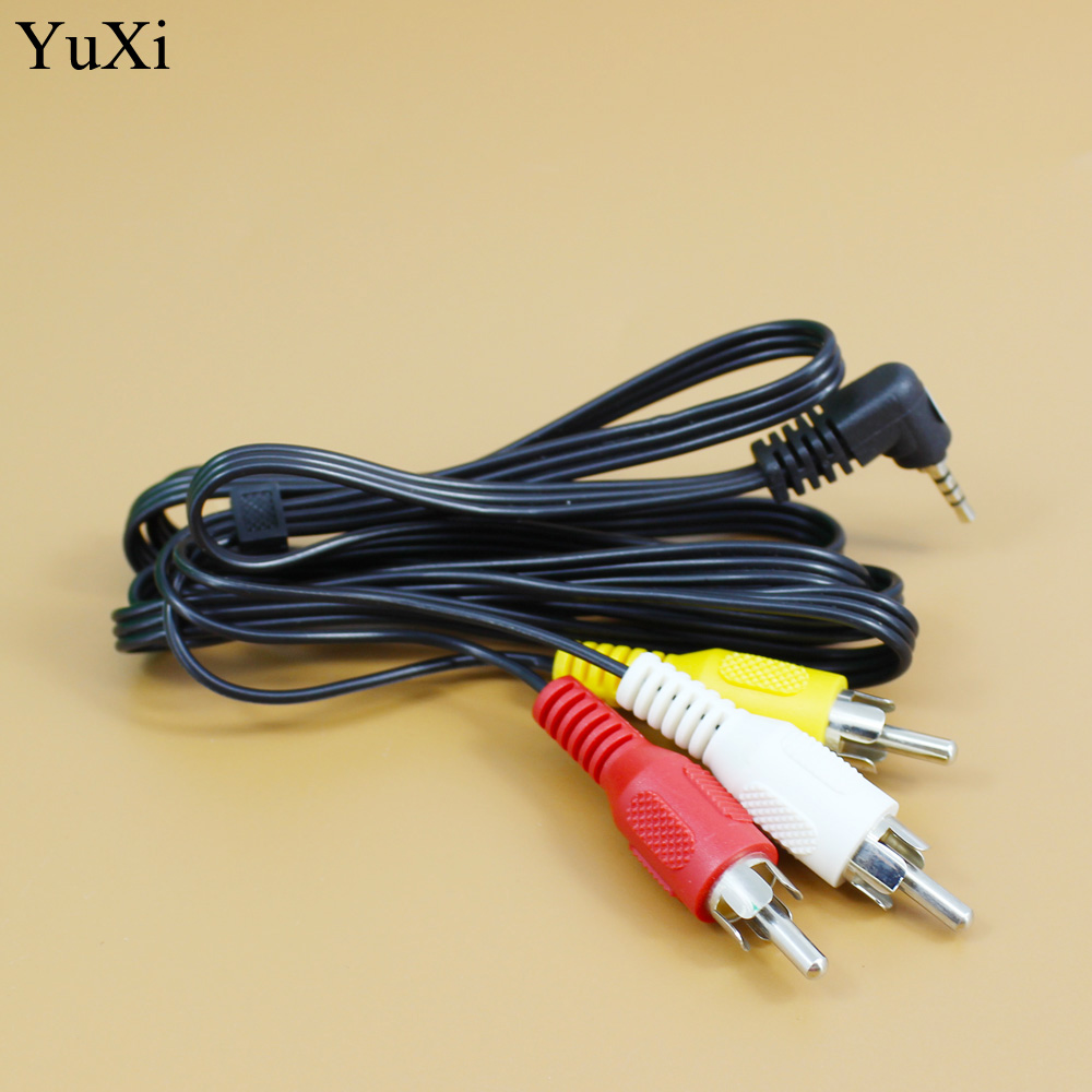 5ft A//V Cable AUDIO VIDEO Cord line 3.5mm 4Pole 3ring to 3 RCA Cable 1.5M