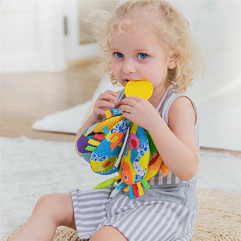 Soft Cloth Book Baby Toy Early Learning Education Animals Book Infant Toys Children Care Bite Book Cloth Recognize Book