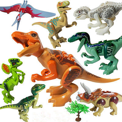 Helen115 Cool Dinosaurs Jurassic Park World Mini font b Figure b font Blocks Set Baby Kid