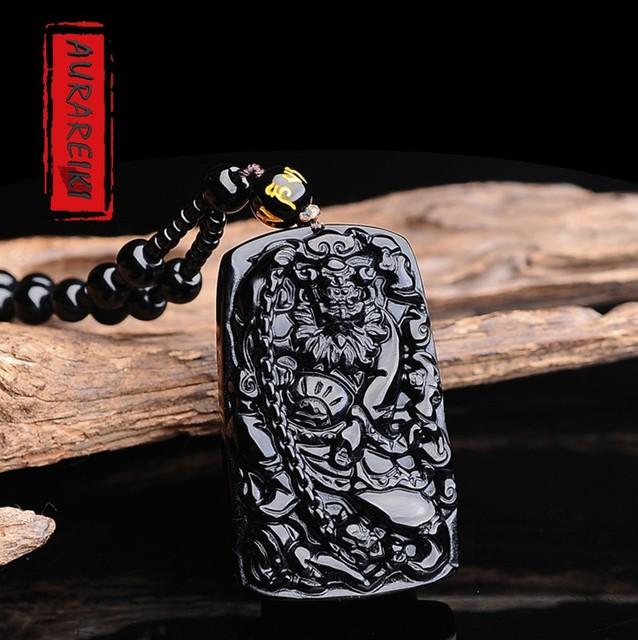 Zhong Kui Obsidian Pendant