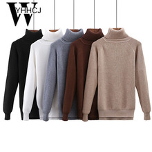 WYHHCJ knitted winter sweater 2018 thicken Turtleneck slim pullover long sleeve pull femme soft elastic female sweater jumper