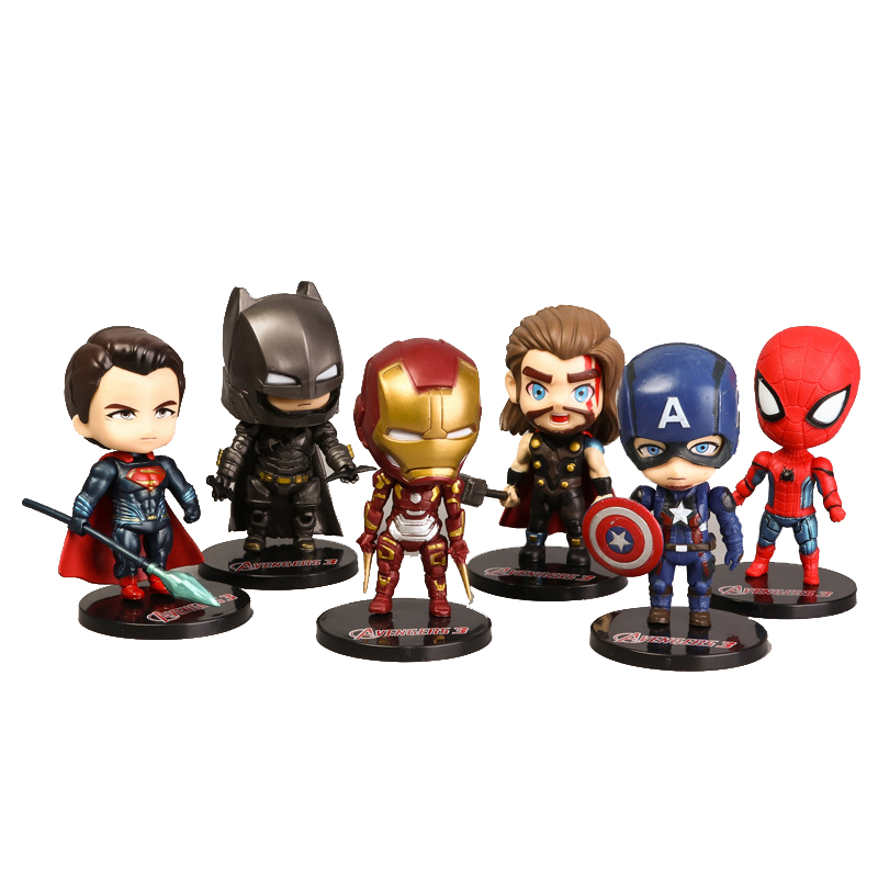 6pcs-set-marvel-font-b-avengers-b-font--infinity-war-thanos-ironman-spiderman-captain-american-hulk-black-panther-pvc-figure-model-toys