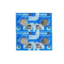 4 pièces/lot détail BrandNew Renata longue durée 395 SR927SW LR57 LR927 AG7 montre pile bouton pièce de monnaie suisse fait 100% Original