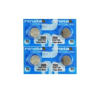 Image 1 - 4pcs/lot RETAIL BrandNew Renata LONG LASTING 395 SR927SW LR57 LR927 AG7 Watch Battery Button Coin Cell Swiss Made 100% Original