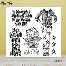 ZhuoAng Slim girl transparent silicone stamp / sealed DIY scrapbook photo album decorative seal