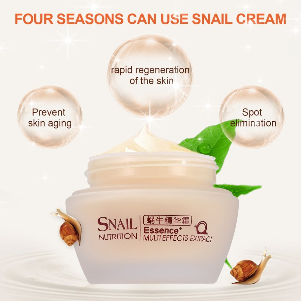 LAIKOU Face Care Essence Nutrition Snail Cream Moisturizing Anti-Aging Anti Wrinkle Day Cream Multi-Effects Extract 2018 Summer