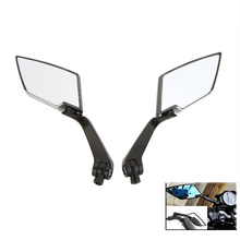 1Pair HD Side Rear View Mirrors Backup Mirror for Motorcycle Motorbike Honda Yamaha Suzuki Kawasaki