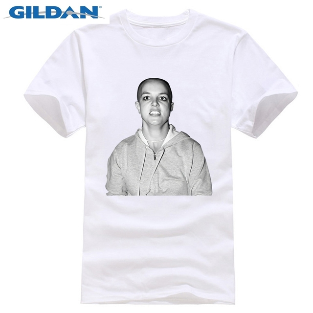 2019 New Pure Cotton Short Sleeves Hip Hop Fashion Mens Britney