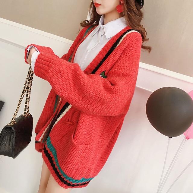Poncho Promosi Penuh Baju Longgar Mantel Wanita 2018 Korea Musim Gugur  Musim Dingin Pola Baru Cardigan 208b2fa37b