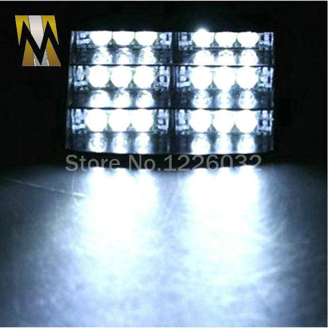18 LED Emergency Vehicle Strobe Lights Windshields Dashboard Flash Warning  Red/Bule/Amber/White LED POLICE LIGHTS Free Shipping