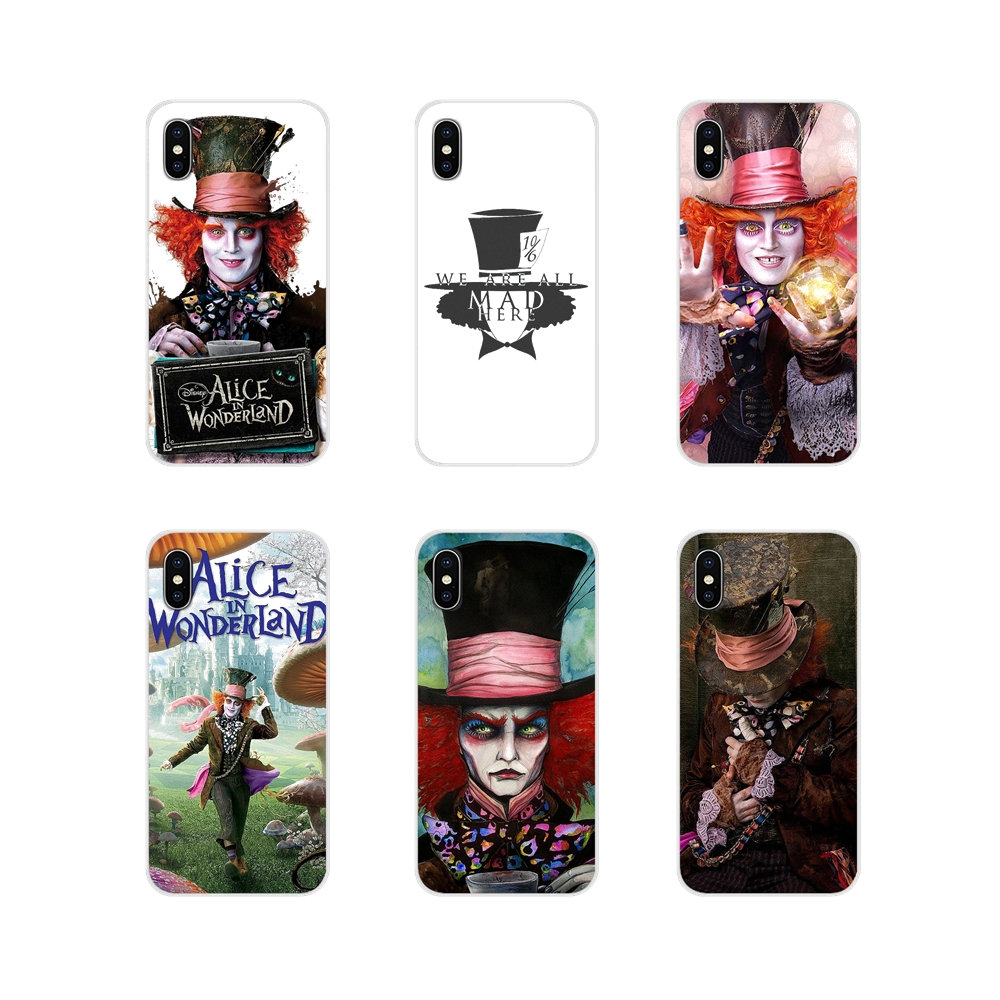 Shell-Cases Alice Mad Hatter Wonderland Samsung Galaxy Silicone For S3 S4 S5 Mini S6