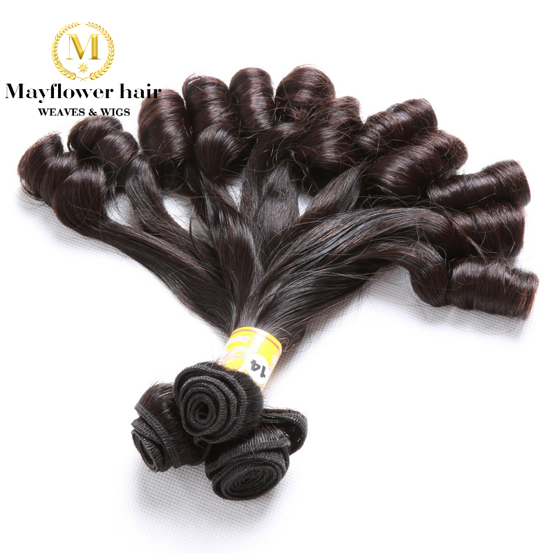 MFH one bundle Double drawn Aunty Funmi Hair Candy curl or spiral curl for afro women 3bundles mixed length 8-18 available