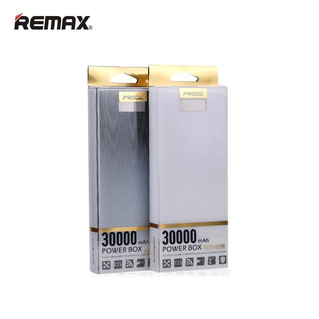 Remax Power Bank 30000 мАч 2USB LED Внешнее Зарядное устройство Для iPhone6 6 S 7 плюс SE 5c Для Samaung S5 S4 S3 Примечание 4 3 Для Xiaomi