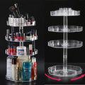 Claro 360 Que Giran la caja de cosméticos para el Cuidado de La Piel baño de almacenamiento de maquillaje cosmético del organizador Caja de Almacenamiento de Escritorio estante de rotación