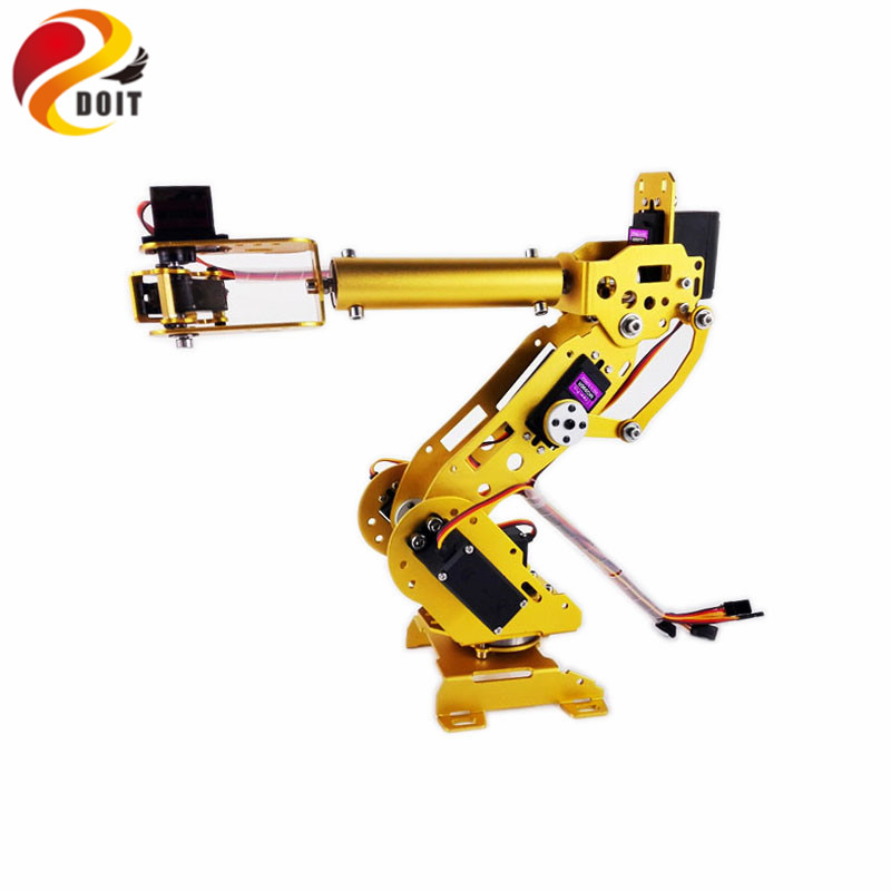 DOIT DIY 7 DOF 3D Rotating Metal Mechanical Manipulator Robot Arm Kit for Smart Car Arduino Robot Parts Teaching Platform modern cx 10 rc quadcopter spare parts blade propeller jan11