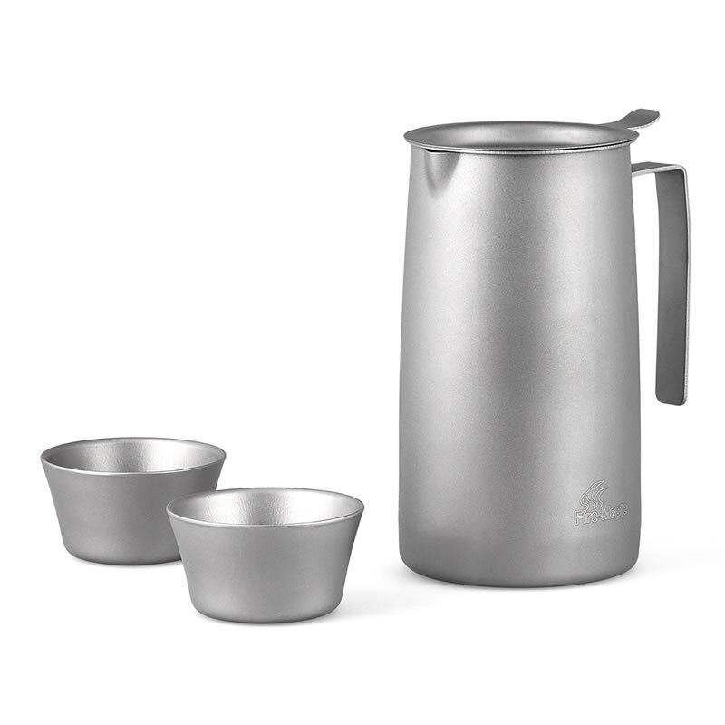 Thé à l'érable en plein air titane thé filtre thé ensemble tasse bouilloire thé articles FMP-T320 livraison gratuite