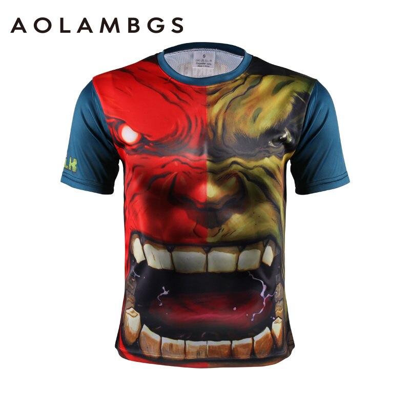 Mężczyźni Koszulek 3D Super Heroes Hulk Kapitan Ameryka Fitness Kulturystyka Sporting Kompresji T koszula Z Krótkim Rękawem Topy Tee homme
