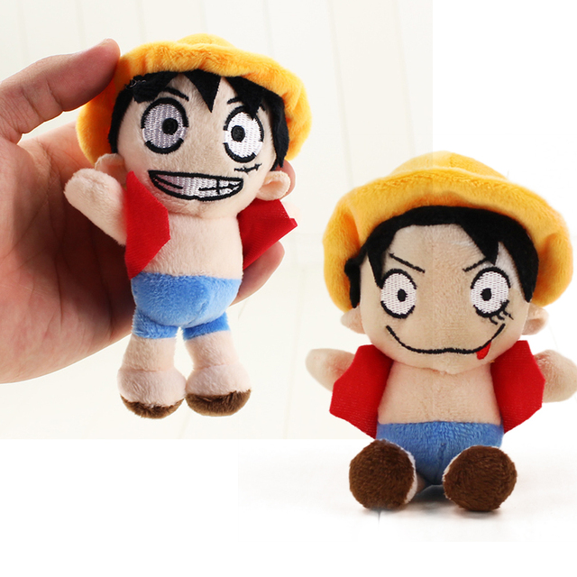 Us 1 94 20 Off Aliexpress Com Buy 2 Styles Anime One Piece Monkey D Luffy Plush Toy Doll Keychain Pendant Stuffed Soft Gifts For Kids From