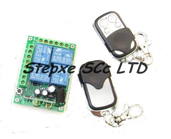 metal RF Remote Control Switch  2pcs & 4channels wireless module Rceiver board 1pcs