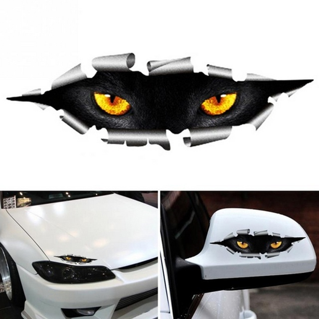 3D Car Styling Cat Eyes Sticker 2