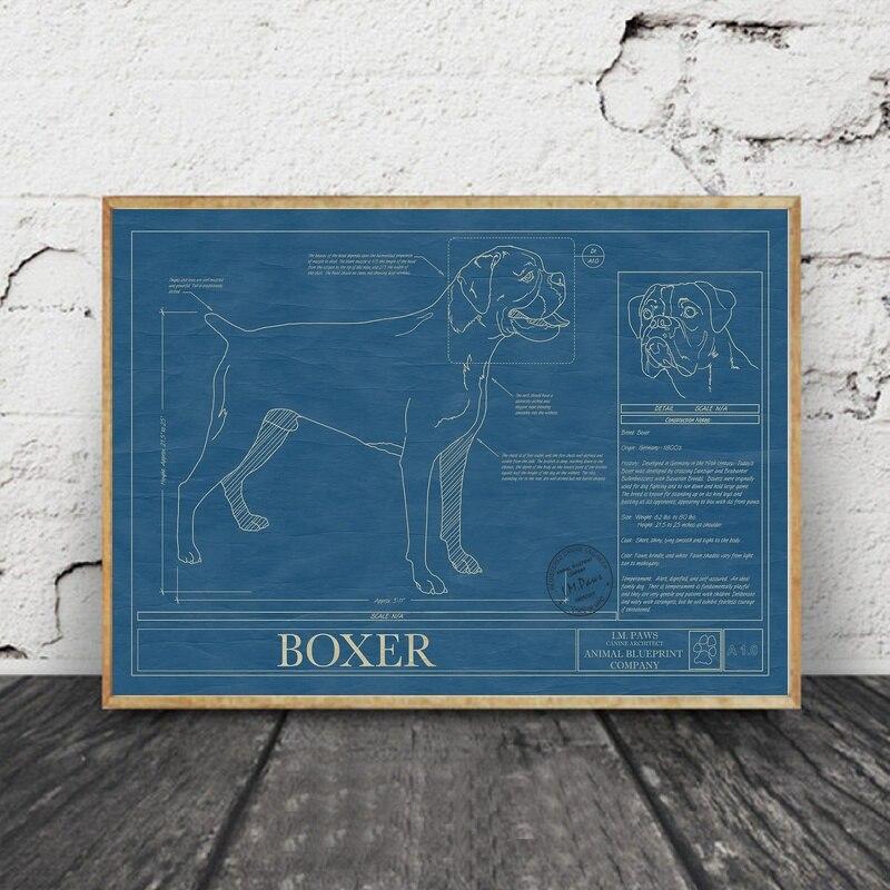 Boxer animal blueprint company art silk fabric poster 90x60cm in boxer animal blueprint company art silk fabric poster 90x60cm in painting calligraphy from home garden on aliexpress alibaba group malvernweather Gallery
