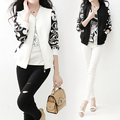 2015 Women's Spring Decorative Pattern Jacket Female Baseball Uniform Jacket Fashion Bomber Jacket