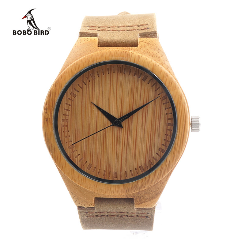 BOBO BIRD Brand Bamboo Watches Men Japan 35 Move' Wooden Wrist Watch with Genuine Leather Band as Gifts for Friends C-F18 4
