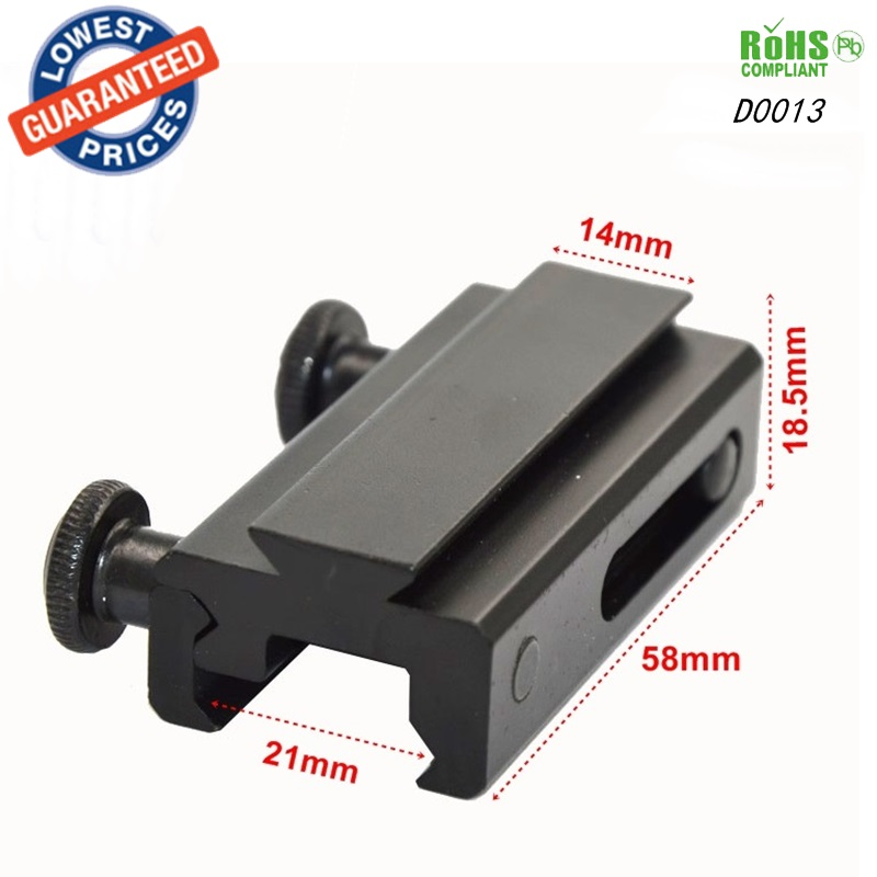 1PC D0013 hunting mount 21mm Weaver Scope Torch Rail Mount for gun accessories Extension Picatinny Weaver