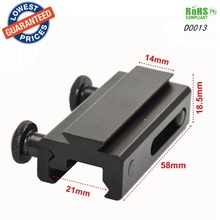 1PC D0013 hunting mount 21mm Weaver Scope Torch Rail Mount for gun accessories Extension Picatinny Weaver Mount