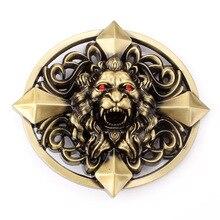 Gold Plated Lion Belt Buckle Animals Men Cowboy Metal Belt Buckle