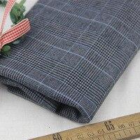 100 Cotton Yarn Dye Gray Blue Houndstooth Check Elastic Fabric For Autumn DIY Fashion Apparel Dress