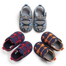 Новорожденных обувь для маленьких мальчиков и девочек летние сандалии мягкие кроватки подошва детская обувь младенец, не умеющий ходить для детей ясельного возраста повседневная обувь