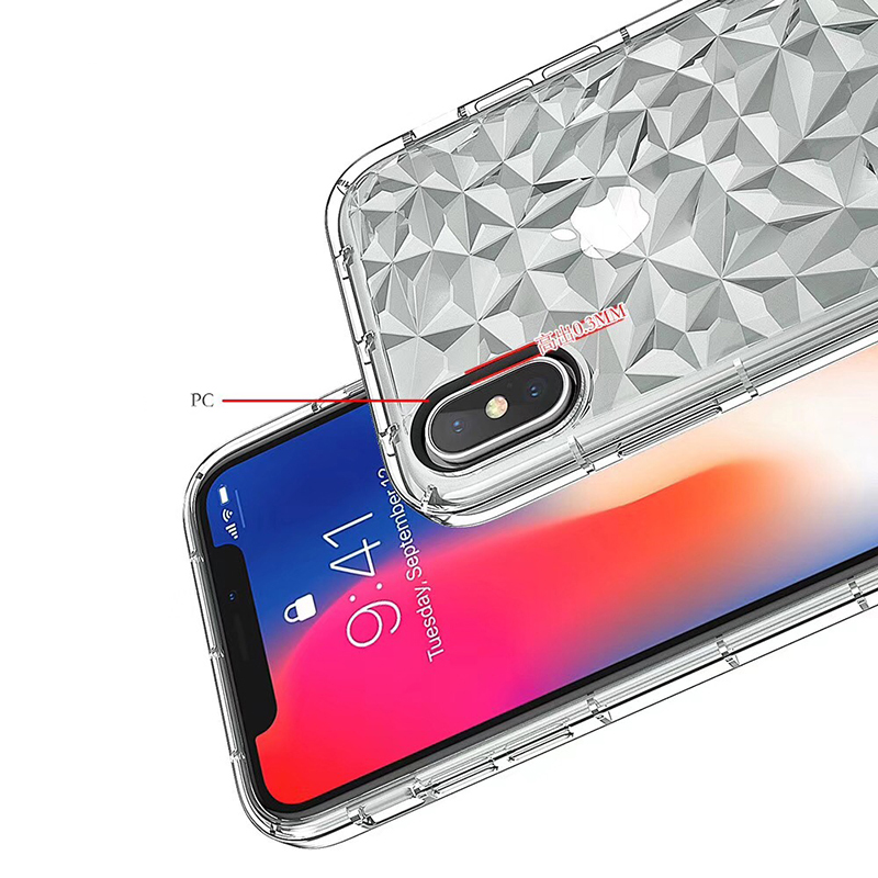 3D Diamond Pattern Phone Case For iPhone X Luxury Ultra Thin Soft TPU Cases For iPhone 7 8 6 6s Plus 5 5 S SE Shining Cover Capa (11)