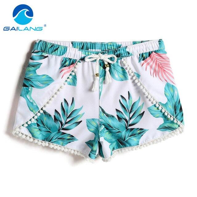 Gailang Brand Women Casual Shorts Board Trunks Shorts Bermuda Woman New Boxer  Shorts Swimwear Swimsuits Boardshorts Big Size XL a40e06bea