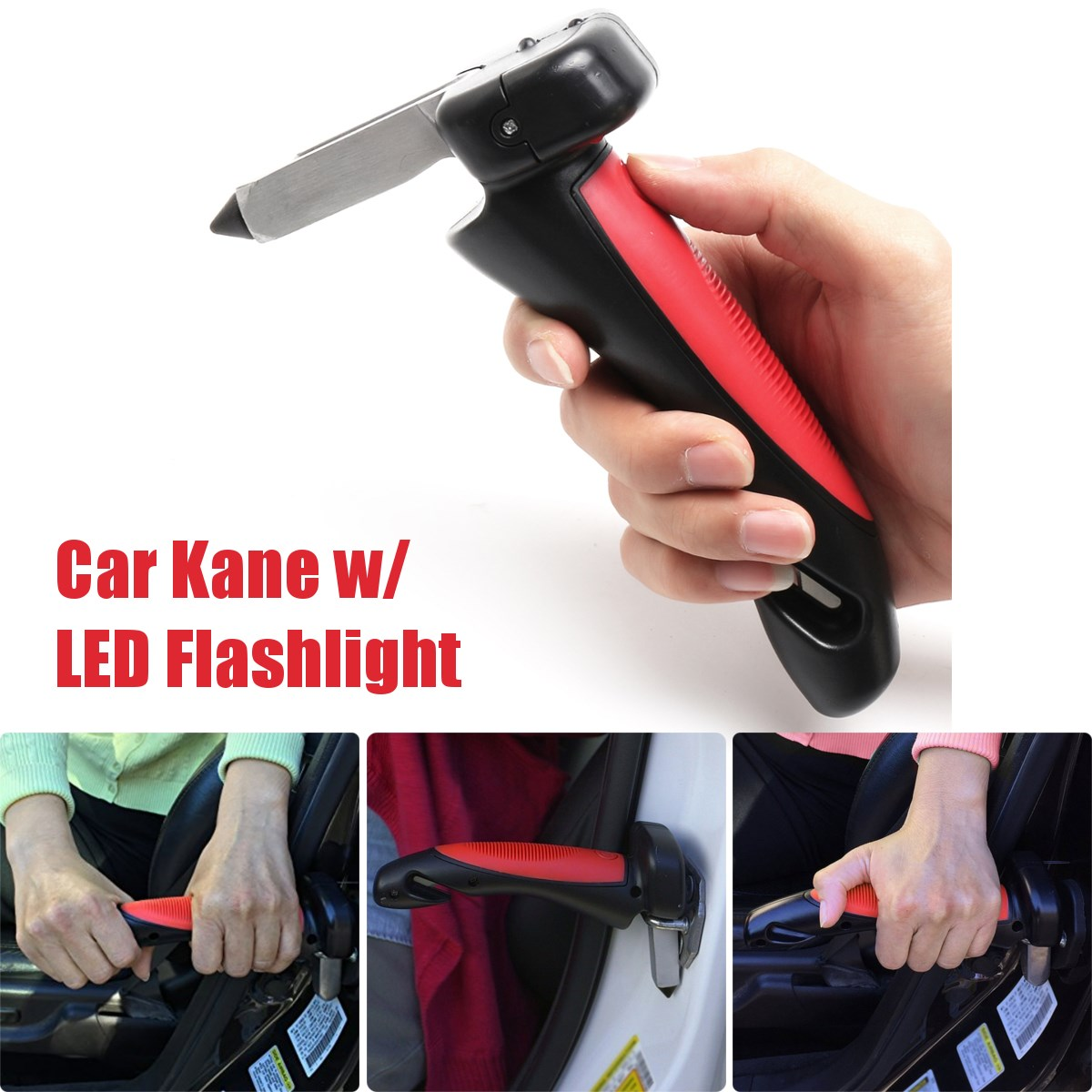 350llbs Portable Car Handle Cane Support Auto Assist Grab Bar Vehicle Emergency Escape Hammer Tool with Window Breaker and Seat