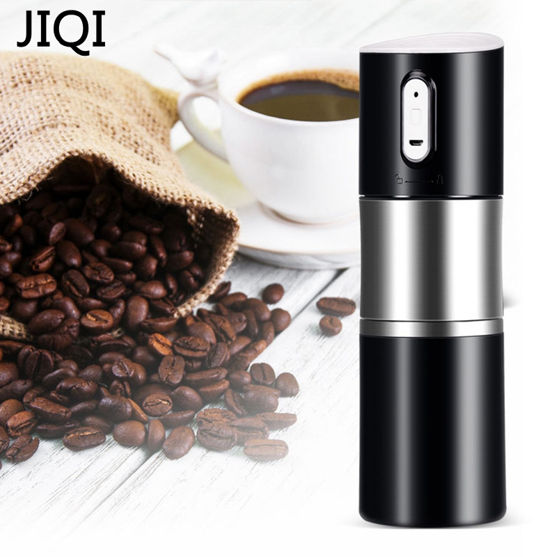 JIQI Portable Mini Coffee machine Electric Coffee Bean Grinder with filter Coffee Cup USB charging Electric Milling device nuova simonelli bottomless filter holder portafilter with 3 cup filter