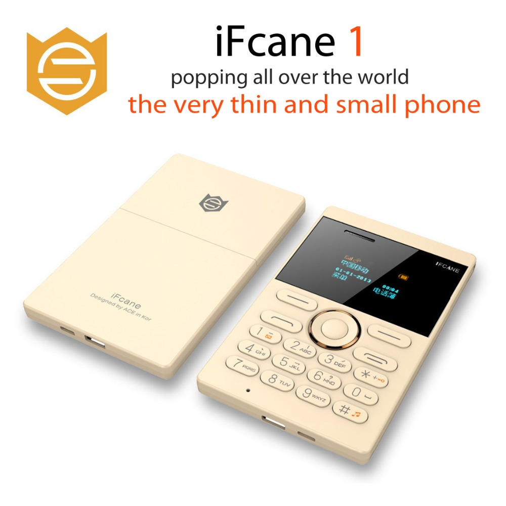 Wholesales 3Pcs as One Package iFcane E1 mini Cell Phone Student Version ultra thin mini card