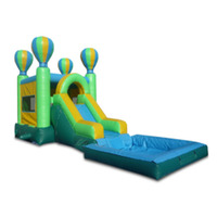 Large PVC commercial outdoor slide pool inflatable water slides for sale/ inflatable slide combo