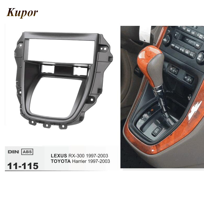 11-115 Car Radio Fascia Installation Kit For TOYOTA Harrier/LEXUS RX-300 1997-2003 Stereo Dash CD Trim Installation Frame Kit 11 405 car radio dash cd panel for kia skoda citigo volkswagen up seat mii stereo fascia dash cd trim installation kit