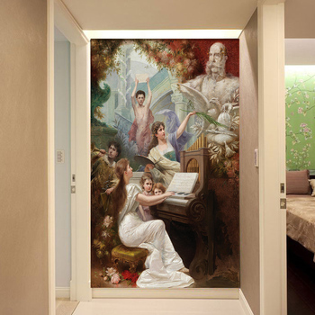 Wallpapers photo 3D Mural European Classical Oil Paintings Musician Size For Living Room Bathroom Bedroom Entrance Decorative