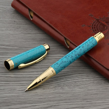 OFFICE classic metal golden student pen WING Sung turquoise Rollerball Pen